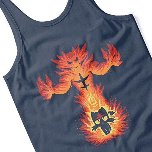 Inner Fire Cat Incineroar Litten Pokemon Men's Vest Navy Blue