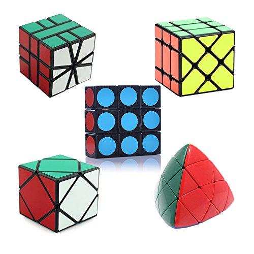 HJXDtech- 5 diferentes cubo mágico anormal conjunto