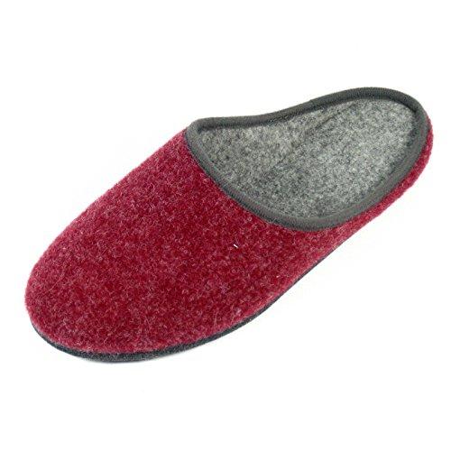 Chaussons en Feutre différentes couleurs unisexe adulte Rouge