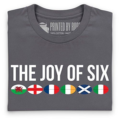 The Joy of Six Rugby T-Shirt, Herren Anthrazit