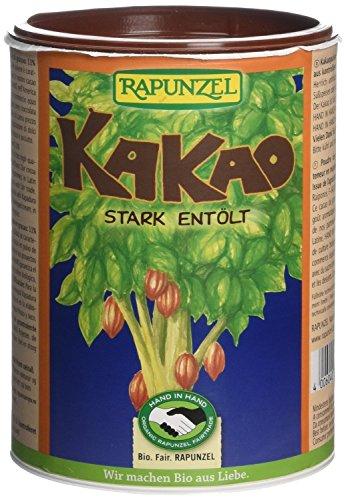 Rapunzel Bio Kakao Pulver stark entölt - fair HiH herrlich schokoladiger Geschmack 3 x 250g Bio aus Liebe