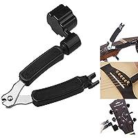 Waxun Premium-In String Cutter, multifunktional Gitarre Saitenkurbel und Pin Puller Wartung Werkzeug für Elektro- und Akustik String Instrument