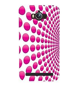 Pink Dot Pattern 3D Hard Polycarbonate Designer Back Case Cover for Asus Zenfone Max ZC550KL :: Asus Zenfone Max ZC550KL 2016 :: Asus Zenfone Max ZC550KL 6A076IN