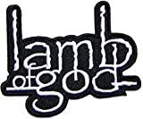 lamb of god Music Band Logo Sew Iron on Patch Embroidered er