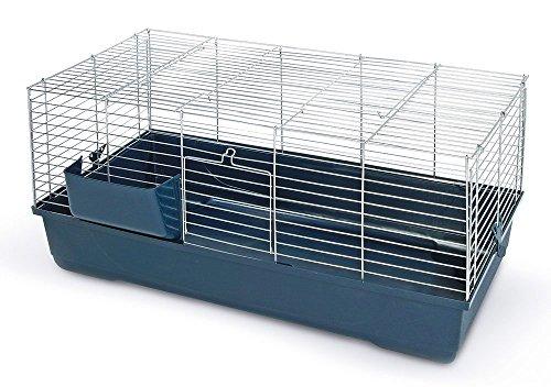 Gabbia per conigli sonny 80x45x42 cm apertura superiore metallo coniglio