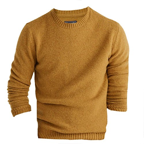 abercrombie-mens-wool-crew-sweater-jumper-pullover-size-xl-gold-624417963