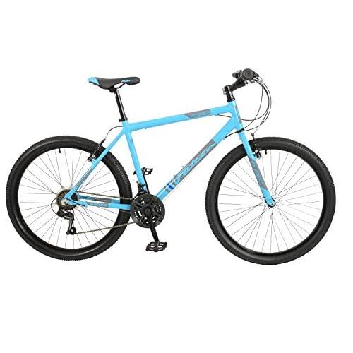 "5143QTHTVHL. SS500  - Falcon Progress Unisex Mountain Bike Blue, 19"" inch aluminium frame, 18-speed front and rear alloy v-brake steel straight blade fork"