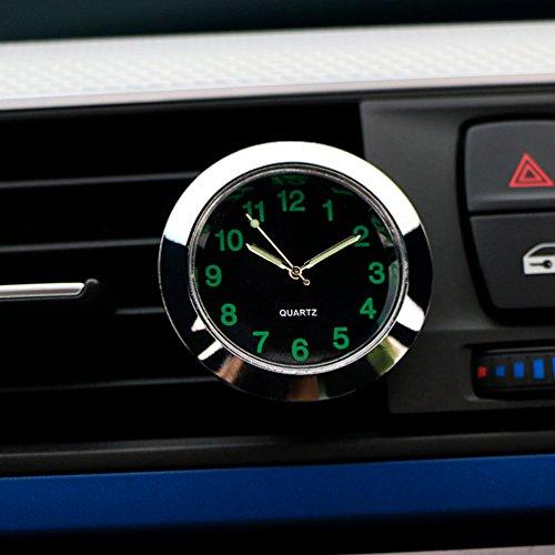 Preisvergleich Produktbild CARGOOL Auto Armaturenbrett Uhr Mini Fahrzeug Uhr Air Vent Uhr,  perfekte Dekoration für Auto,  SUV und MPV,  silber