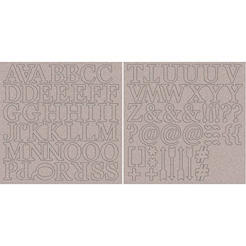 Kaisercraft Chipboard Alphabet Sheets, 12 x 12-Inch, 1.75-Inch Uppercase Letters and Symbols, 2-Pack by Kaisercraft -
