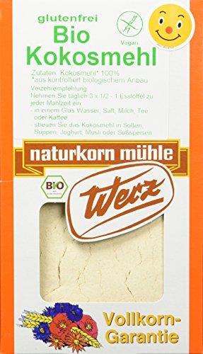 Werz Kokosmehl glutenfrei, 1er Pack (1 x 500 g Packung) - Bio