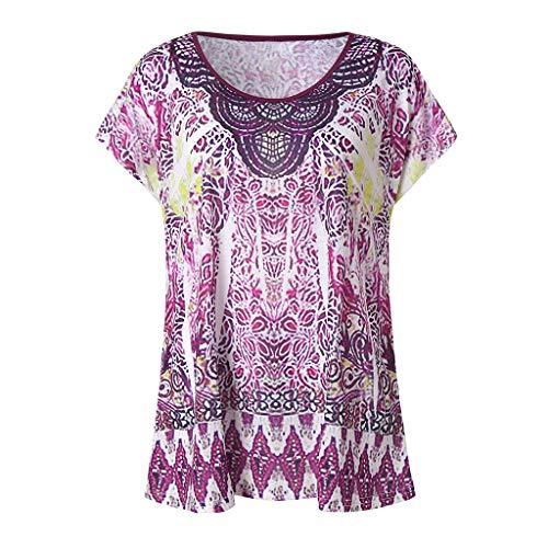 TWIFER Damen Sommer T Shirt Kurzschluss Hülsen Druck Beiläufige Oberseiten T Shirt Lose ()