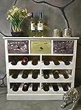 Livitat Weinregal Weinschrank Flaschenregal Kommode Siedeboard Anrichte Holz Landhaus Shabby Chic Vintage LV1080