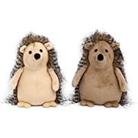 Carousel Home and Gifts Grey Striped Fluffy Hedgehog Decorative Animal Novelty Doorstop - Colour Varies