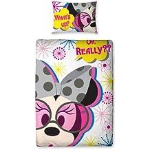 Original Minnie Disney Mickey Mouse funda nórdica reversible 135x200 Shopaholic Panel Juego de cama SELLADA 2en1 Diseño 2012