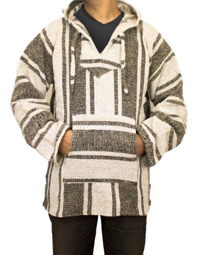 Unisex Jerga Poncho, beige, Größe L - Baja Pullover Hoodies