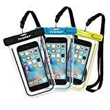 "[IPX8 Certificato] Custodia Impermeabile,[3 Pack] iVoler Custodia Cellulare Impermeabile Universale 6.2 Pollici Waterproof Cover Case Impermeabile per iPhone X / 8 / 8 Plus / 7 / 6s / 6, 7 Plus / 6s Plus / 6 Plus, SE 5S 5C, Samsung Galaxy S9/S9 Plus/S8/S8+/S7/S7 Edge/S6/S6 Edge/Edge+, Note 5/4/3/Edge, Huawei P20/P20 Lite/P10/P10 lite, Nexus, ASUS, LG, HTC, Sony Xperia, Motorola ed Smartphone Uguale o Inferiore a 6.2"",ecc - Garanzia a vita (Nero+Blu+Verde)"