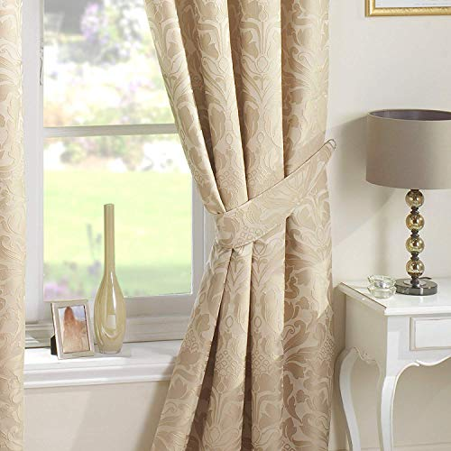 Just contempo luxurycurtain9924, paio di nastri per tende, beige (natural cream), 66.04 cm