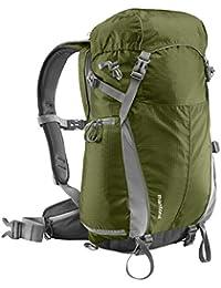 Mantona Elements Outdoor sac à dos avec pochette pour appareil photo amovible - pour appareil photo numérique reflex Housse de pluie/compartiment pour ordinateur portable/support de trépied inclus  Vert Foncé