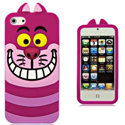 iPhone 6Plus iPhone 6S Plus Fall, Phenix-Color 3D Cute Cartoon Monster Blau Giant Horn Universität Stil Silikon Gummi Fall für iPhone 6S Plus 14cm, Alice Cat (Hello 6 Kitty Iphone Fall Plus)