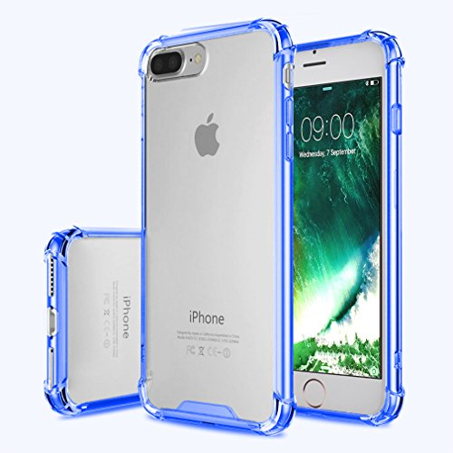 FIRST2SAVVV blu iPhone 7 plus 5.5 Shock Assorbente Custodia, JETech Apple iPhone 7 plus Case Custodia Shock-Absorption Bumper Cover e Anti-Graffio Trasparente - XJPJ-I7-5.5-B03