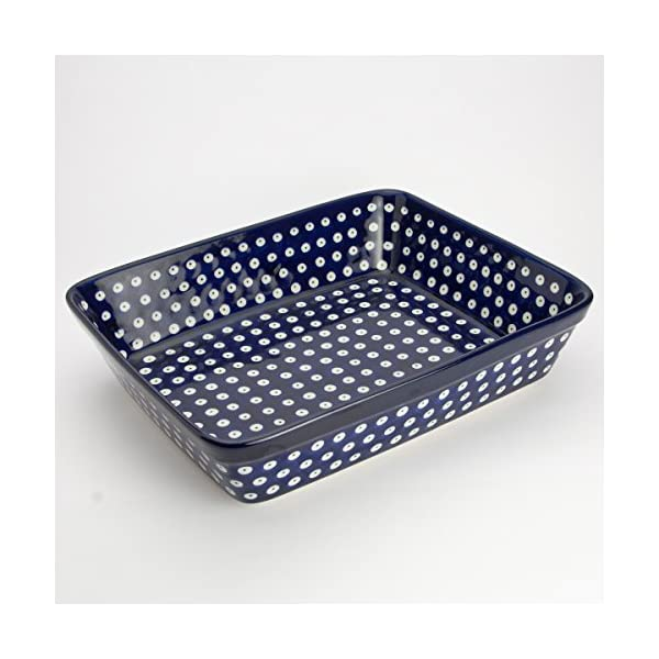 Polish Pottery Medium Lasagne Dish – Blue Eyes – 28 x 23cm