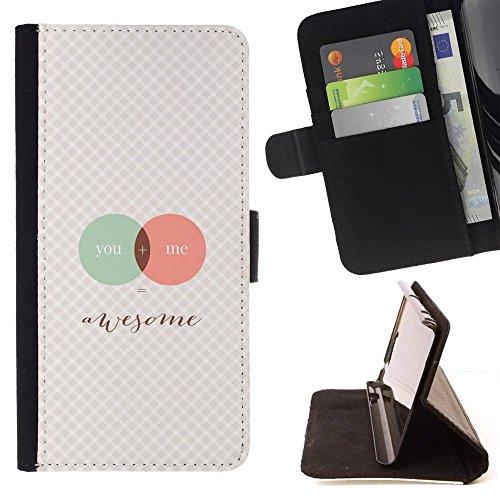 For HTC One A9 Case , Si Me Love Science grafico a scacchi - Portafoglio in pelle della Carta di Credito fessure PU Holster Cover in pelle case