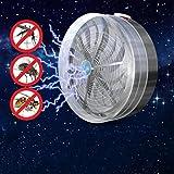 Masrin solarbetriebene Buzz UV-Lampe gegen Fliegen, Mücken, Insekten, grau