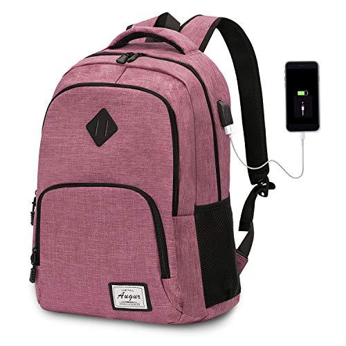 Laptop Rucksack Wasserdicht Schulrucksack Reiserucksack Damen Herren Daypacks Rucksack Grosse Kapazität Multifunktionsrucksack Diebstahlsicherung Tagesrucksack für Business 15,6 Zoll, 20-35L (Rosa) - Rosa Laptop-rucksäcke