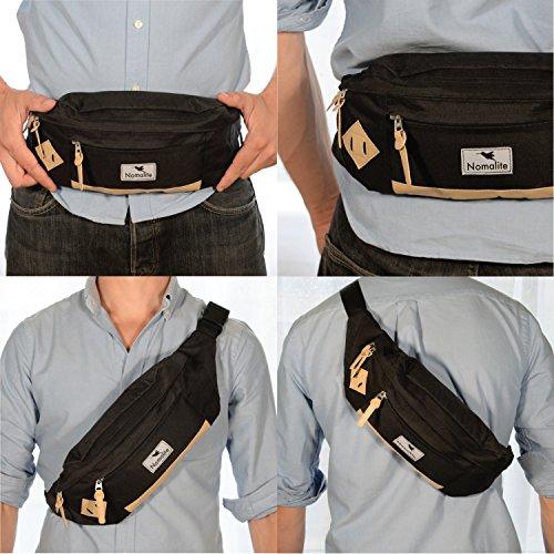5f67a40dd4 Sac banane XL noir par Nomalite | Sacoche ceinture et imperméable ...