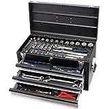 KS Tools 918.0100 - Caja de herramientas (cromo, 3 cajones, 99 piezas)