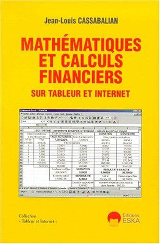 Mathématiques et calculs financiers sur tableur et internet