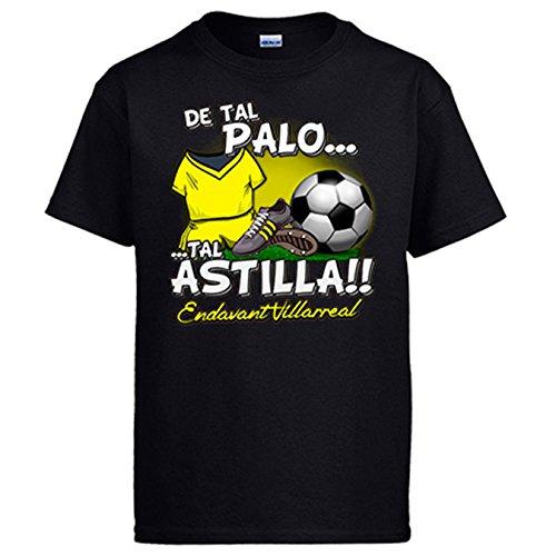 Camiseta De tal palo tal astilla Villarreal fútbol - Negro, XL