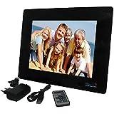 Merlin digital india Wall Mountable 12-inch Digital Photo Frame with 2GB Storage (Black)