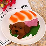 16PCS Squishies Clearance, Squishies Kawaii Hamburger Dog Scented Slow Rising Jumbo Cream Scented Charms Soft Silicone Toys Anti Stress Squeeze Mini Squishy Animal Toys Squishy Slow Rising for Kids Stress Relief Toys for Kids Adults (B)
