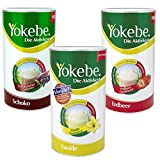 Yokebe 3er Pack Erdbeer, Vanille, Schoko (3 x 500 g)