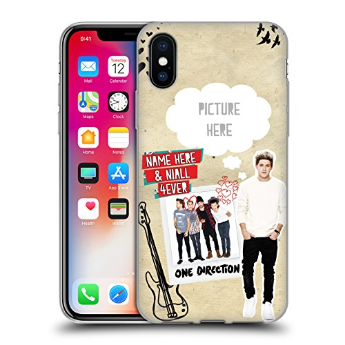 Cover Personalizzata Personale One Direction 1D Harry 4ever I Ship Us Cover Morbida In Gel Per Apple iPhone X Niall 4ever