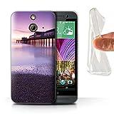 Stuff4 Gel TPU Hülle / Case für HTC One/1 E8 / Pier Muster / Englische Strand Kollektion