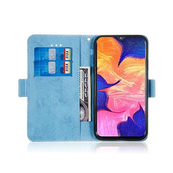 SEYCPHE Funda Samsung Galaxy A10 Carcasa Libro de Cuero Ultra Delgado Billetera Cartera [Ranuras de Tarjeta,Soporte… 3