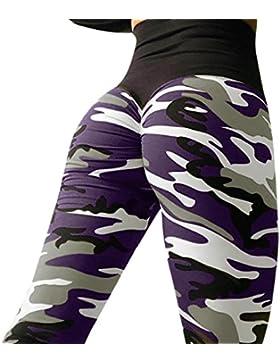 DOGZI Mujer Leggings de Entrenamiento Yoga Deportes Corriendo Pantalones de Vestir Negocios Palazzo Pantalon Estampado...