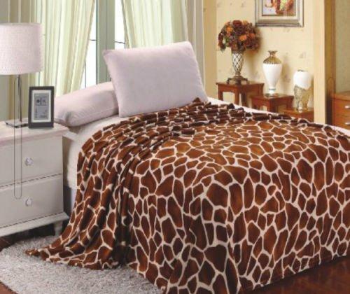 Home Must Haves Premium Bettdecke aus weichem Flanell, für alle Jahreszeiten, mit Giraffenmuster (Micro-flanell-decke)