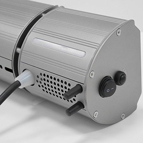 VASNER Appino BEATZZ Grau Grey Infrarotstrahler dimmbar 2000 Watt mit Bluetooth, LED Backlight Licht, Musik-Lautsprecher Außenbereich - 2