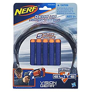 Hasbro Nerf A5068E24 - N-Strike Elite Schutzbrille + 5 Darts, Nerf Zubehör