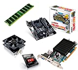 One PC Aufrüstkit | AMD FX-Series Bulldozer FX-6300, 6x 3.50GHz | montiertes Aufrüstset | Mainboard: Gigabyte GA-78LMT-USB3 | 4 GB RAM (1 x 4096 MB DDR3 Speicher 1600 MHz) | CPU Mainboard Bundle | Grafik: 2048 MB AMD Radeon R5 230 (1GB GDDR3 + 1GB Hypermemory | Passiv) DVI, HDMI, VGA | komplett fertig montiert!