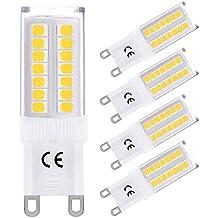 LOHAS® 4x G9 Bombillas LED 5W equivalentes a Lámparas halógenas de 40W, Blanca Neutra 4000K, 400lm, 360°ángulo de haz, 2835 SMD, No-Regulable
