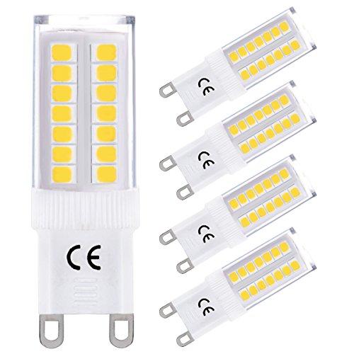 LOHAS® 4x G9 Bombillas LED 5W equivalentes a Lámparas halógenas de 40W,...
