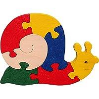 Puzzles 3D enfant. Puzzles escargot 3D. Jouer et décorer. Bois Hêtre massif. Couleurs naturelles. Fabriqué en Europe