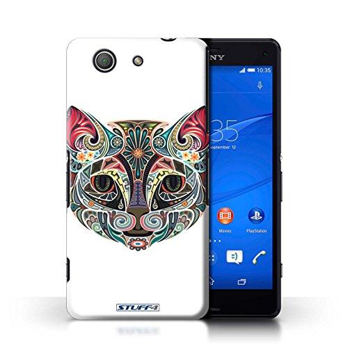 Kobalt® Imprimé Etui / Coque pour Sony Xperia Z3 Compact / Chat conception / Série Animaux décoratifs Chat