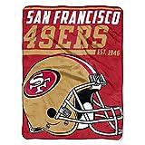 Northwest Mikro-Raschel-Überwurf, NFL, New York Giants, 40-Yard-Sprint, NFL05903, rot, 46-inches by 60-inches