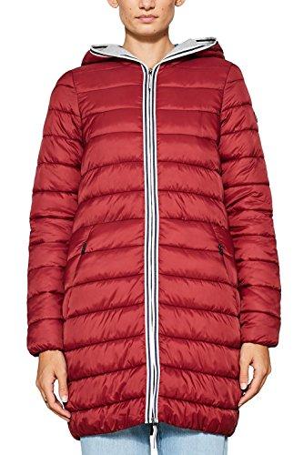 edc steppjacke damen edc by ESPRIT Damen Mantel 087CC1G001, Rot (Dark Red 610), Medium