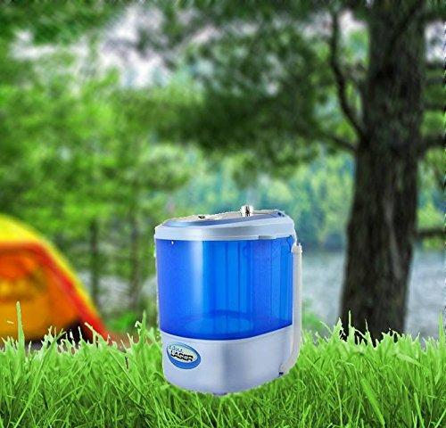 Kompakte Mini Waschmaschine Camping Waschmaschine Miniwaschmaschine Toplader (blau)